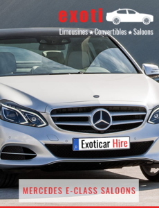 MERCEDES-E-CLASS-SALOONS For Hire