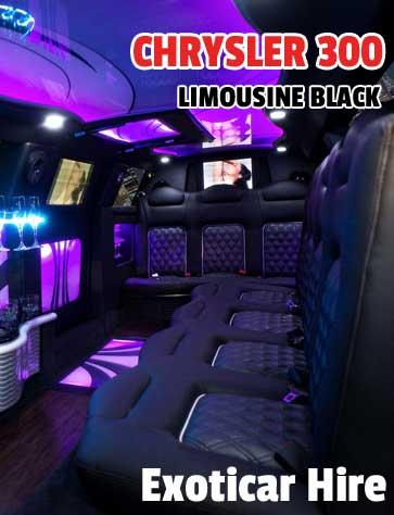 CHRYSLER BLACK limo