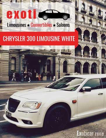 CHRYSLER 300 LIMOUSINE WHITE Melbourne