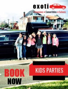 kids party limousines Melbourne